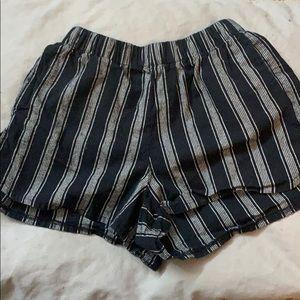 Brandy Melville semi-high waisted striped shorts!
